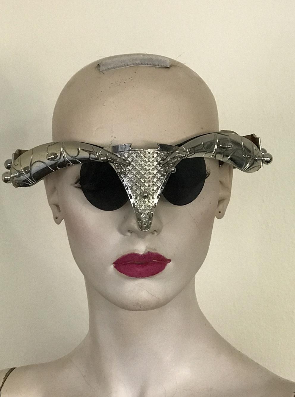 unusual eyewear for  styling video filming Hi Tek