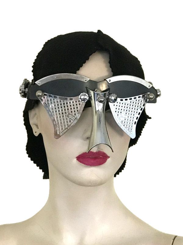 futuristic modern steampunk eyewear for artists black face