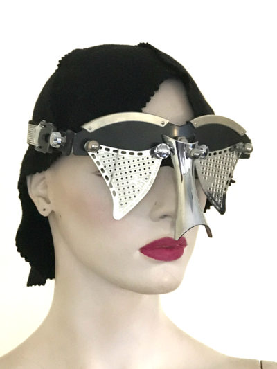 futuristic modern steampunk eyewear for artists black face