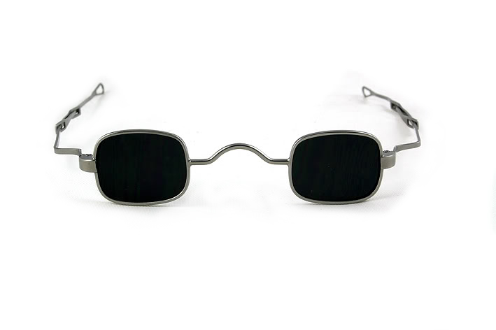square Steampunk sunglasses retro Victorian spectacles with adjustable temples silver frame