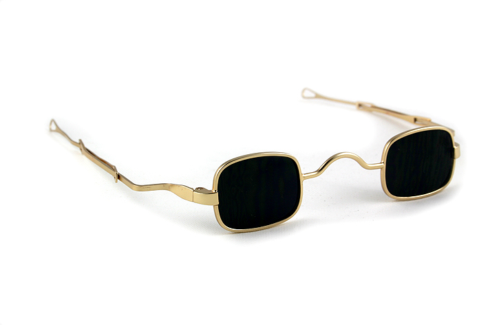 gold square sunglasses