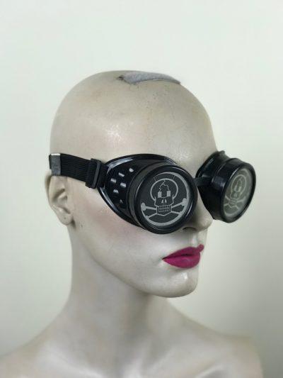 Goth steampunk goggles