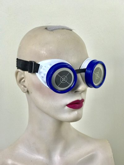 steampunk goggles metal ocular lens blue plastic cups TARGET