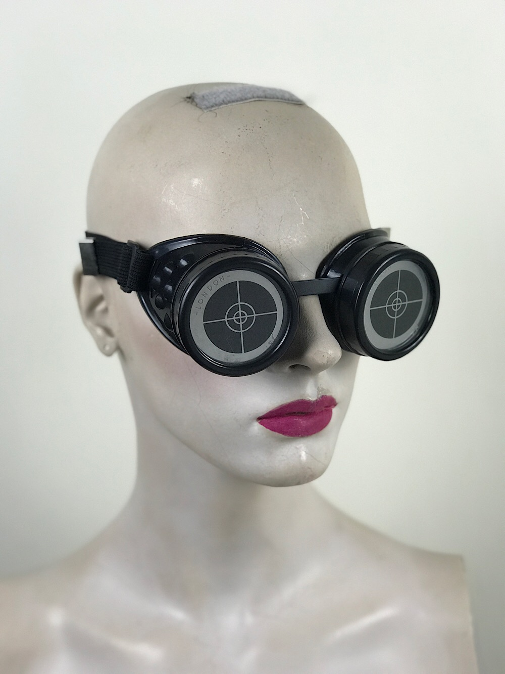 steampunk goggles metal ocular lens all black TARGET