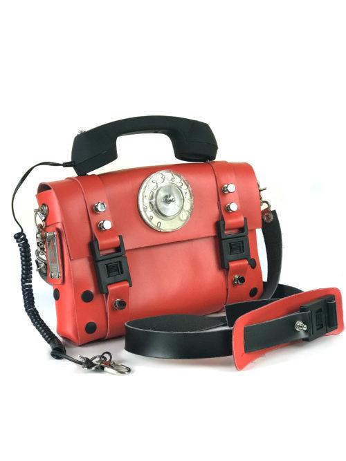 red shoulder bag