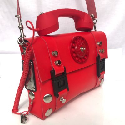red statement bag
