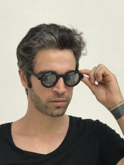 round black sunglasses mirror lens retro Goth Steampunk HT-005