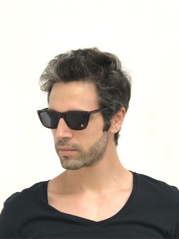 rectangle tortoise retro sunglasses HT-92142