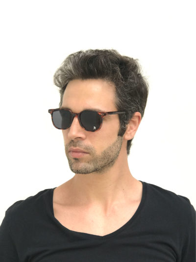 rectangle tortoise retro sunglasses HT-9133