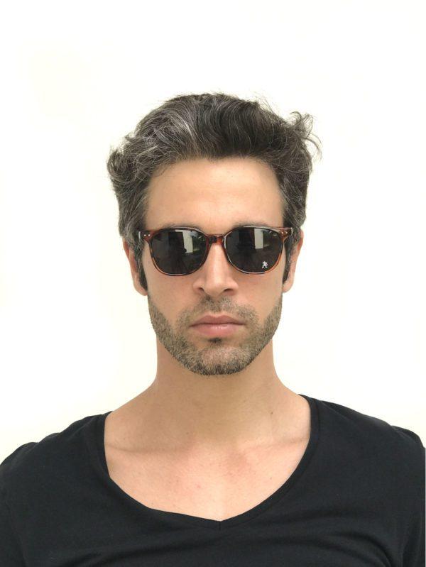 rectangle brown sunglasses for men retro