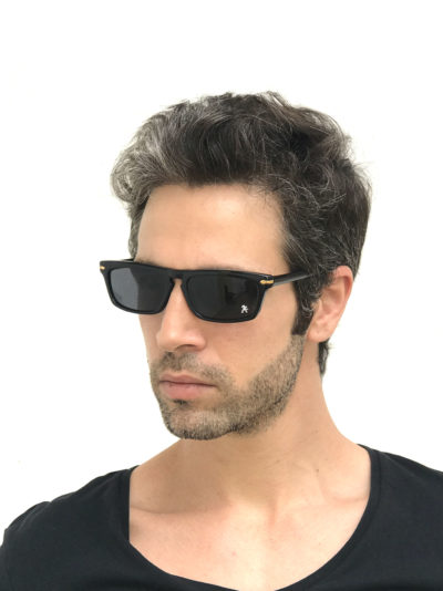 Black oblong sunglasses for men NOS 90's punk era