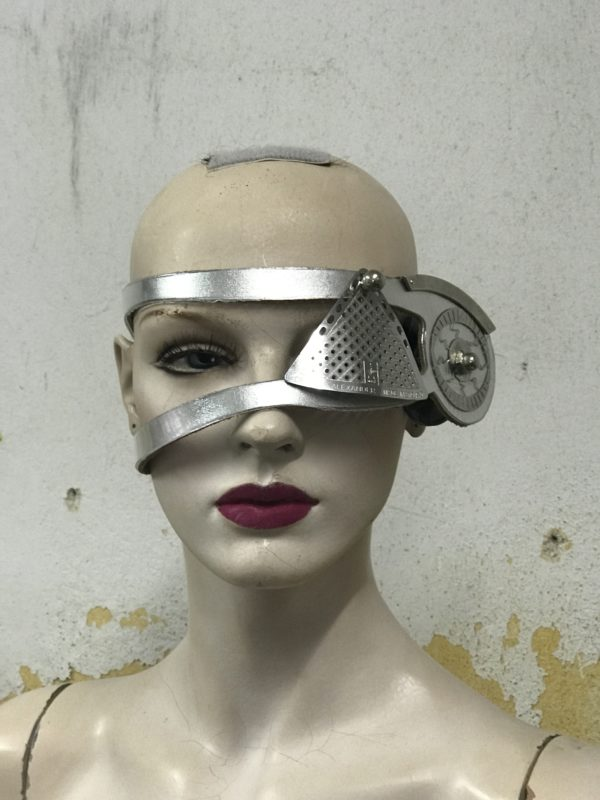 costume eyewear monocle eye patch accessory cosplay Steampunk silver