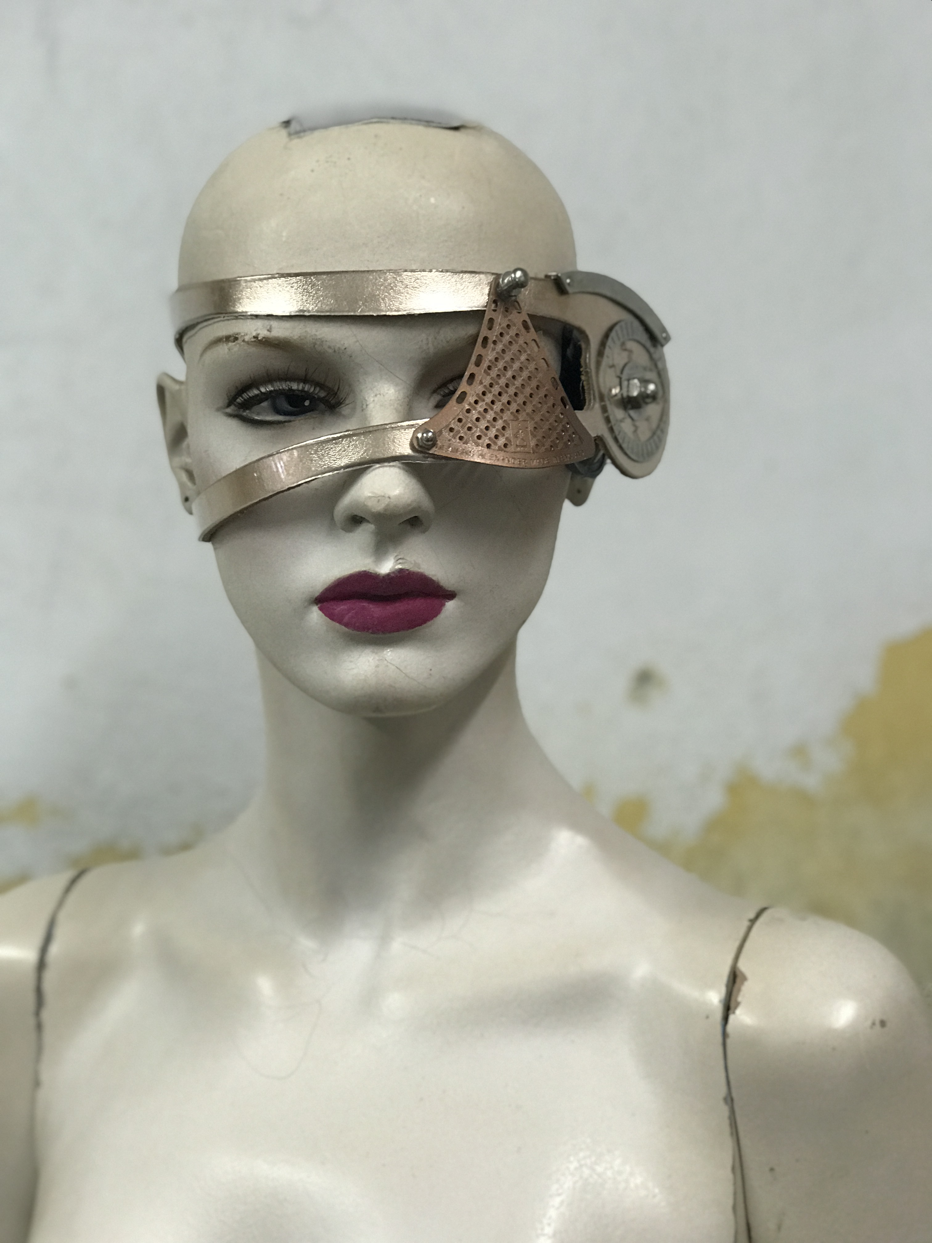 Steampunk costume eyewear eye patch accessory cosplay  rose gold